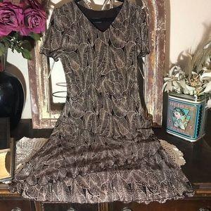 Connected Apparels Dress. Size 9/10  Leaf Design